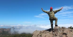 Climbing Pico de Las Nieves, highest point in Gran Canaria